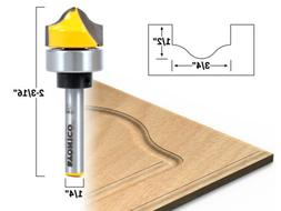 """3/4"""" Faux Panel Ogee Groove Router Bit - 1/4"""" Shank - Yonico"""