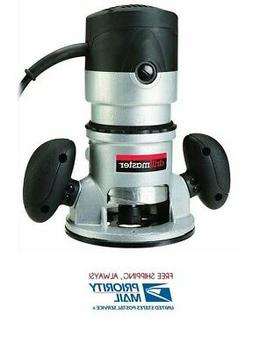 2 HP 28,000 RPM 120 Volt Fixed Base Router For Clean Cuts Ca