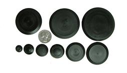 50 Piece Flush Mount Black Hole Plug Assortment for Auto Bod