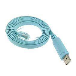 KUMEED 6Ft FTDI RS232 USB to RJ45 Serial for Cisco Console R