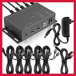 Infrared Repeater System IR Kit Control Up To 10 Devices Hid