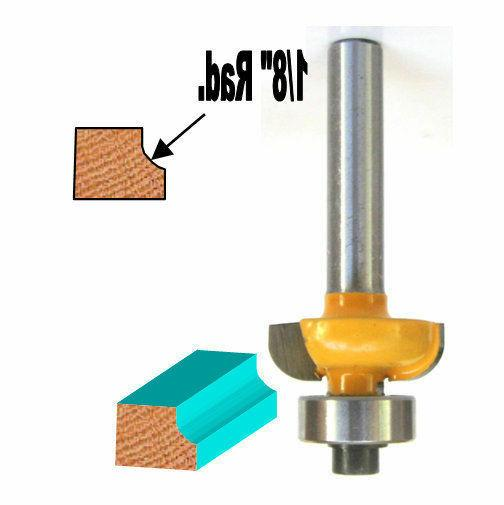 "1 pc 1/4 SH Convex Cove with 1/8"" Radius 1/4"" High Router Bi"