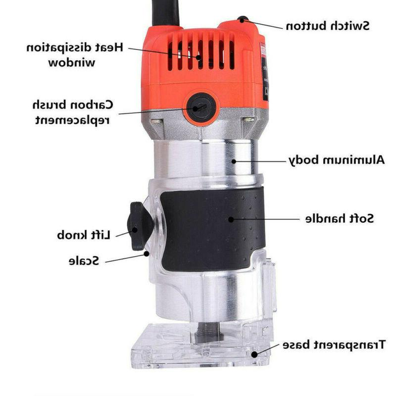 110V 800W Hand Router Joiners Tool US