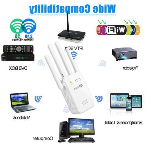1200Mbps 5G Dual Band Wireless Range WiFi Repeater US