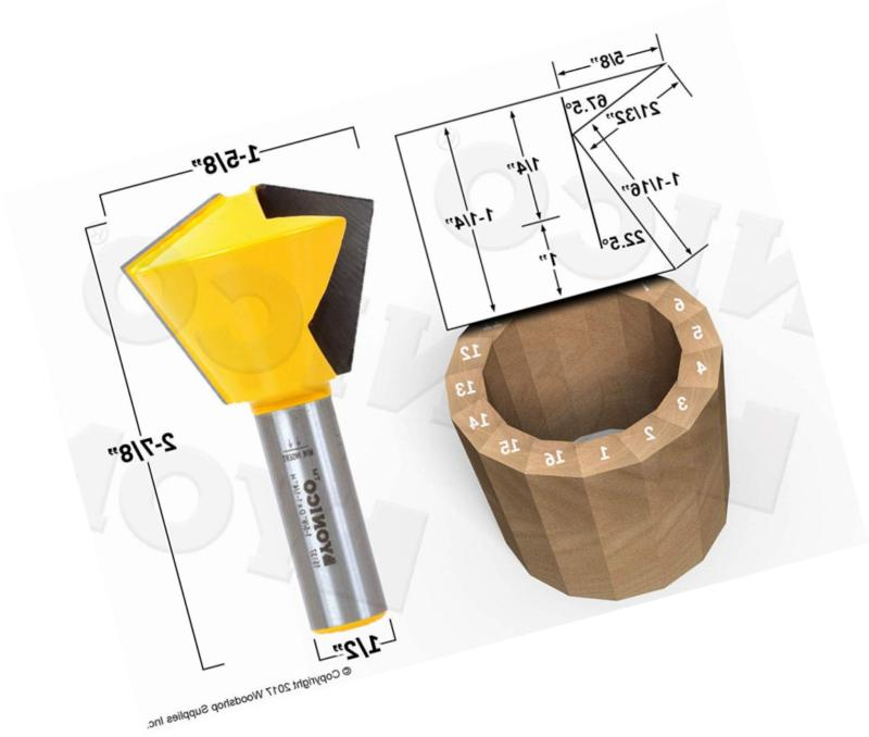 Yonico Glue Router with 16 Sided Shank