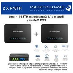 Bundle of 2 Grandstream HT814 4 port FXS Gateway with Gigabi