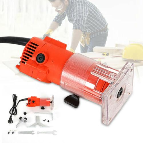 1/4'' Electric Hand Trimmer Wood Laminate Palm Trim Router J