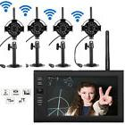 """2.4GHz 4CH Wireless DVR Security System HD Video Recorder 7"""""""