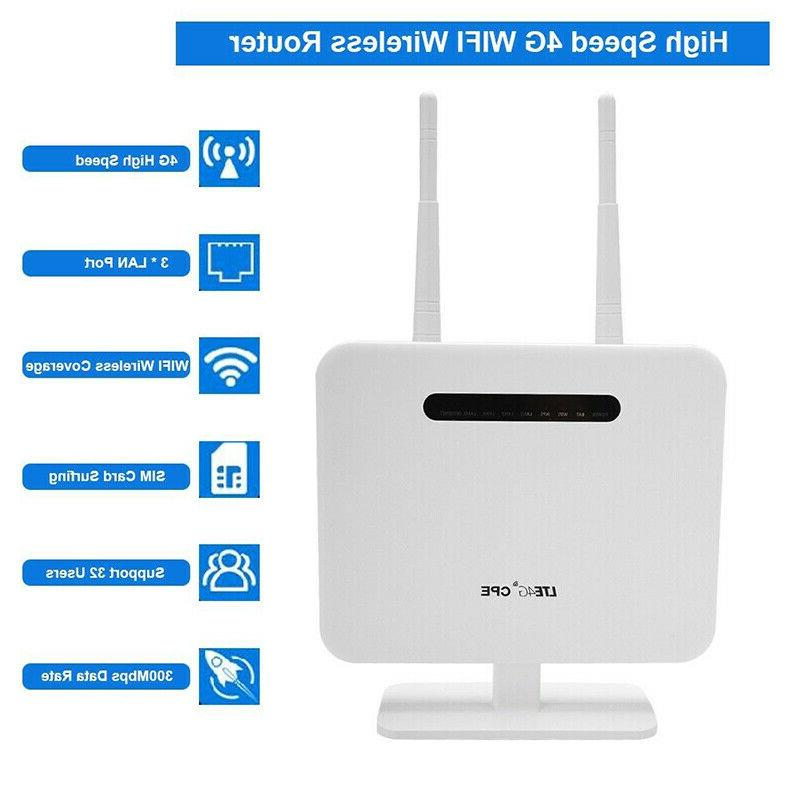 4G LTE Wifi Router 300 Mbp Outdoor Wireless CPE Router DC 5V