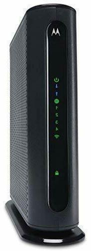 Motorola - N300 Router with DOCSIS 3.0 Cable Modem - Gray