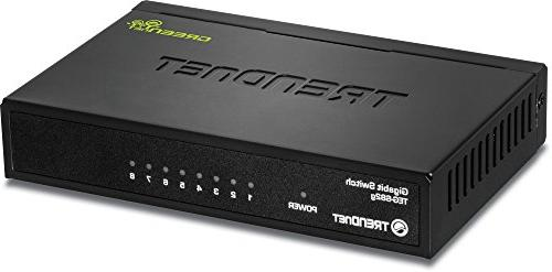 TRENDnet 8-Port Gigabit GREENnet Switch, 10/100/1000 Mbps, 1