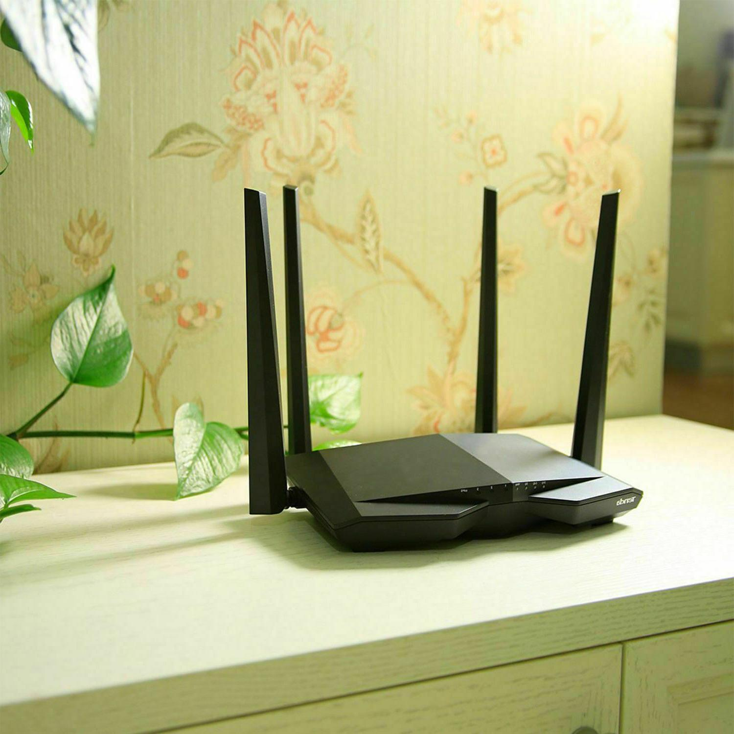 AC1200 Fast Ethernet Home Router WiFi Games Network Wireless