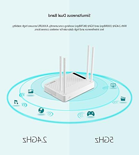 TOTOLINK Band Gigabit Router with Technolgy and USB