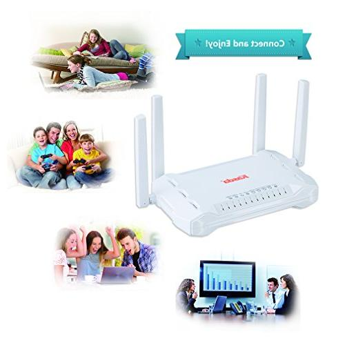 Kasda Wireless Router, WiFi High Gain Via Smartphone, USB2.0, High Speed Wi-Fi for Home/Office