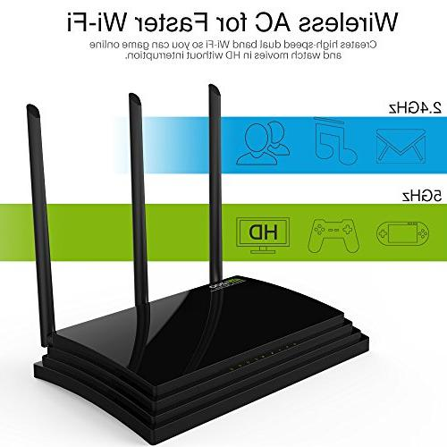 Wavlink AC1200 Gigabit Wireless Wi-Fi Router with 2