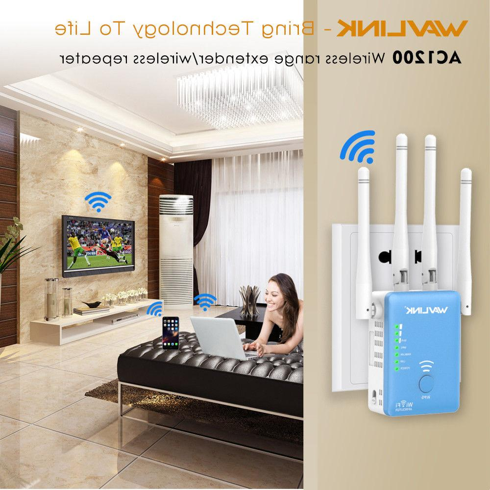 Wavlink Dual Band AC1200 WiFi Repeater,2.4G&5G Wireless Extender