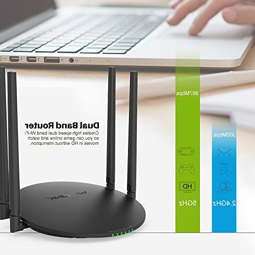WAVLINK Smart Wireless Router 2.0 and Antennas Smart Enabled to Network Anywhere