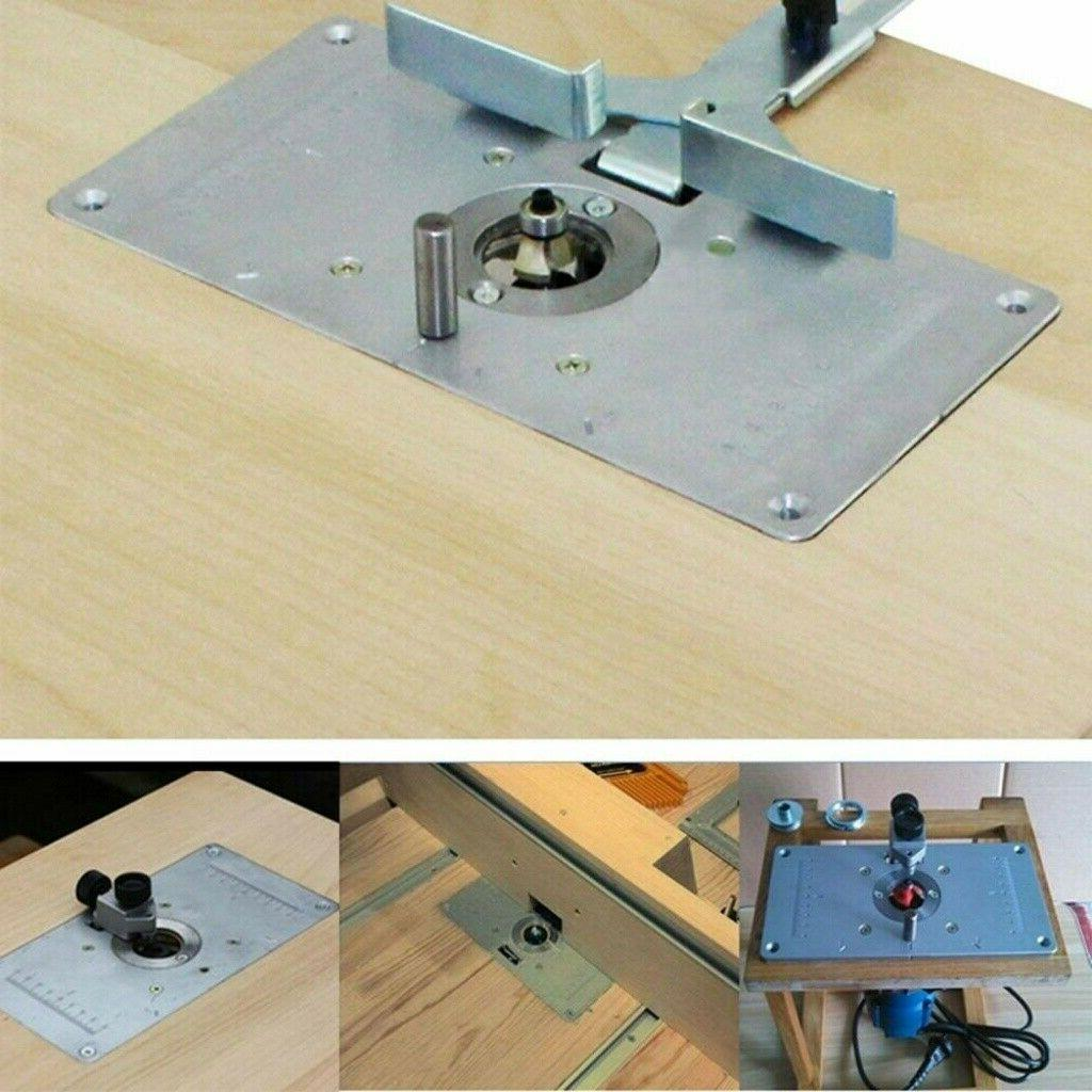 For Woodworking Benches Aluminum Router Table Insert Plate W