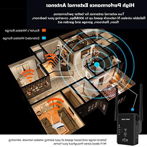 N300 WiFi Range Wi-Fi 300Mbps Internet Signal Access 1- Works w/Any Router, Upgrade