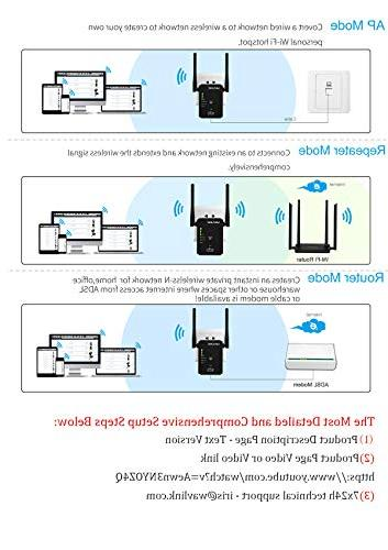 WAVLINK N300 WiFi Extender Wi-Fi Repeater Signal Booster Amplifier/Wireless Access 3 1- Works Upgrade Version