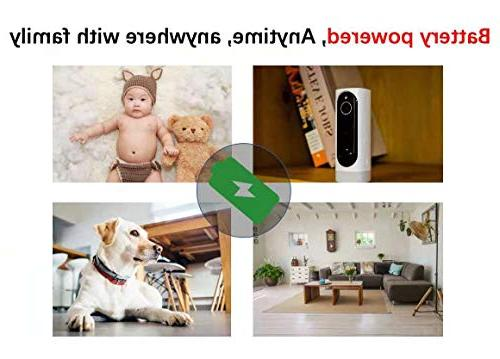 Battery Security Camera, Wireless Security Vision Alarm for Baby/Pet