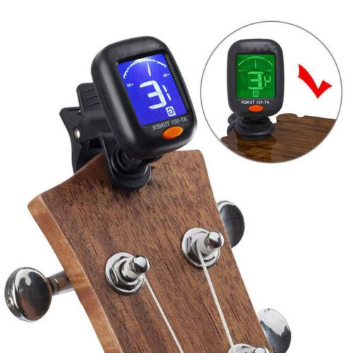 Digital LCD Clip-On Electric Tuner Guitar,