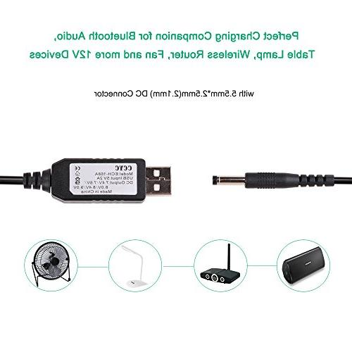 CCYC DC 9V Step Up Cable, Power With 5.5 x or x 2.1mm, Led Wireless Speakers and more