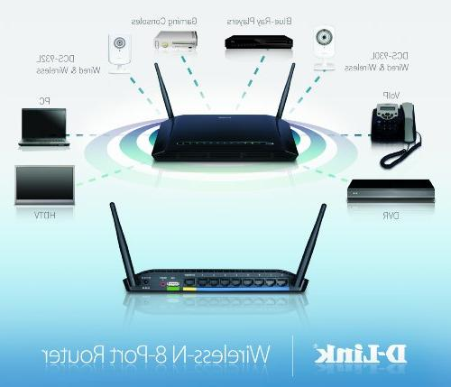D-Link DIR-632 N 8-Port Router