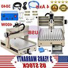 DIY 4 Axis CNC 3040 Mill Router USB Desktop Wood Engraver Mi
