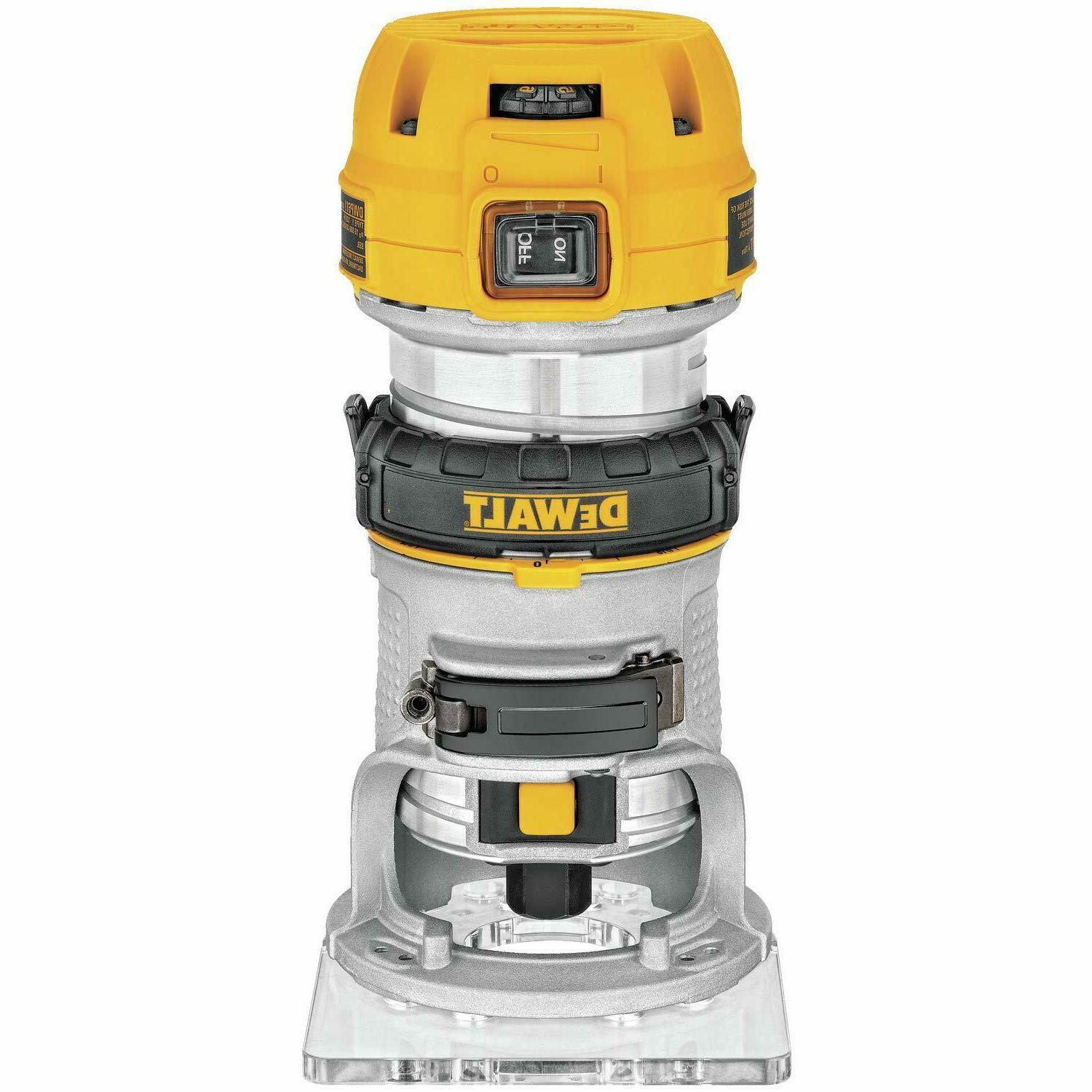 NEW DEWALT Max Torque Variable 1.25 Compact Router LED
