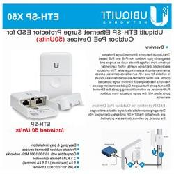 Ubiquiti ETH-SP 50-PACK Ethernet Surge Protector ESD for Out