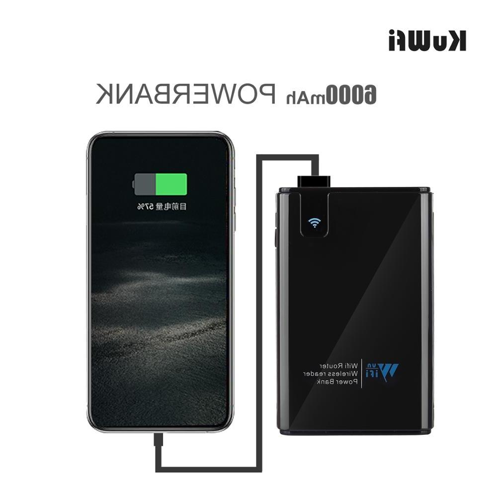 <font><b>KuWFi</b></font> Wireless Data Power bank , Wireless Reader Hard iPad