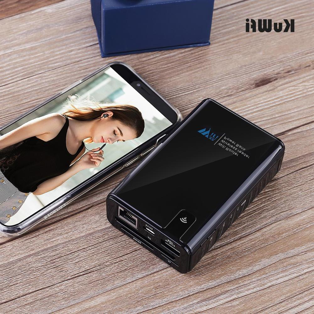<font><b>KuWFi</b></font> Wireless Data share Power bank Travel , Reader Connect SSD Hard Drive to iPhone iPad