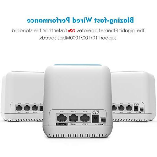 Wavlink Halo Home Mesh System , to Replace Traditional and Ranger Extenders with Touchlink to 6,000