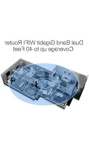 AFOUNDRY High Power Dual Band Wireless Router,