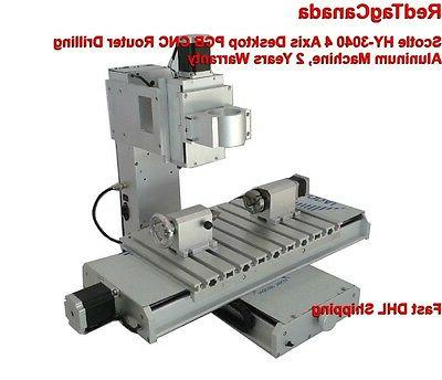 Scotle HY-3040 4 Axis CNC Aluminum Router Machine