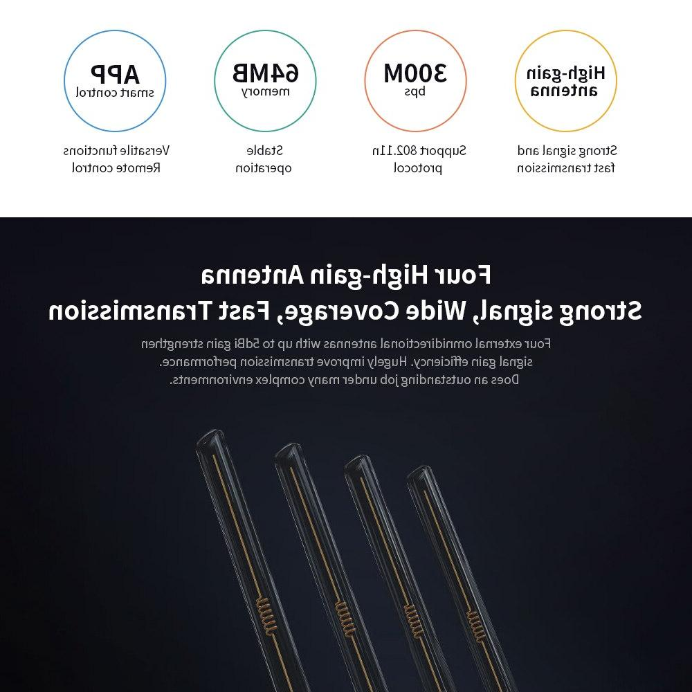 4C Roteador APP 64 2.4G 300Mbps Antennas for