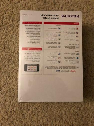 NEW Netgear DOCSIS 3.0 N600 Cable Modem Router