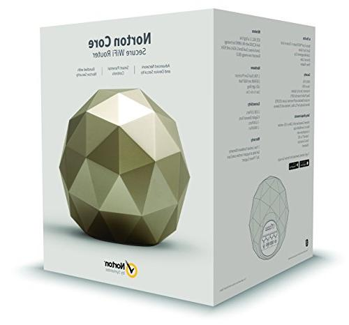 Norton High Performance Router Incredibly Fast WiFi Smart Parental Controls, Gold