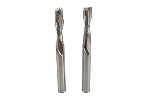 pair upcut double flute spiral