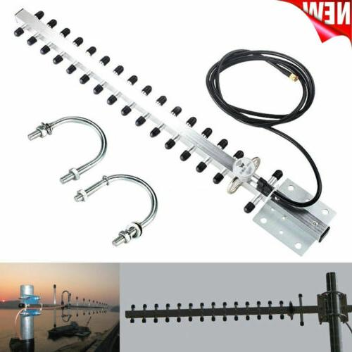 RP-SMA 2.4GHz 25dBi Indoor Outdoor Wireless Yagi Antenna WiF