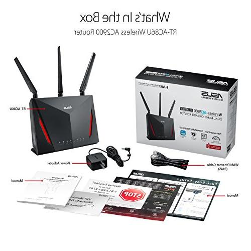ASUS Gigabit Wireless 1.8GHz and AiProtection Security Powered by Trend Whole Compatible