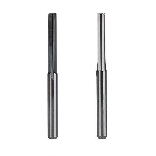 "HQMaster 1/8"" Shank Dia. Double Bits Milling Cutter Flutes CNC Cutting Straight Slot Flute Length 17mm, OAL 38.5mm, Pack of 10"