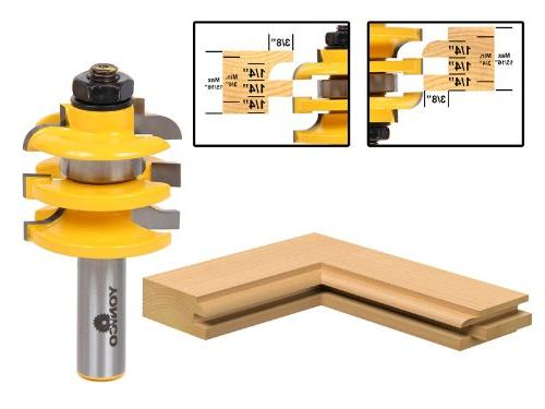 "Cove Stacked Rail and Stile Router Bit - 1/2"" Shank - Yonico"