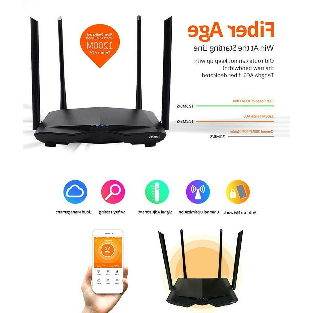 1200mbps ac6 wireless wifi router 4 antenna