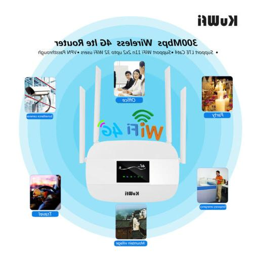 Unlocked 4G LTE Router 300Mbps with card slot&RJ45 Port