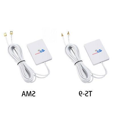 WIFI 4G/3G LTE External Router Antenna 28DBI TS9/SMA Cable T