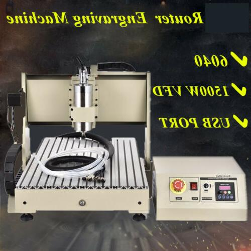 USB 4 Axis 6040 CNC Router engraver engraving milling machin