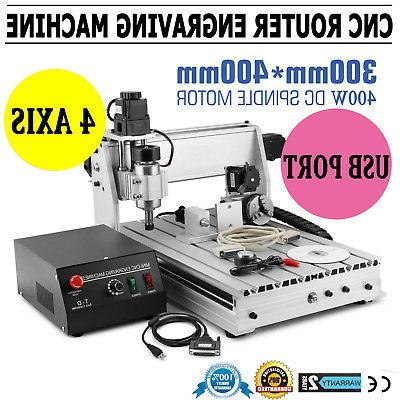 New USB CNC ROUTER ENGRAVER ENGRAVING CUTTER 4 AXIS 3040 T-S