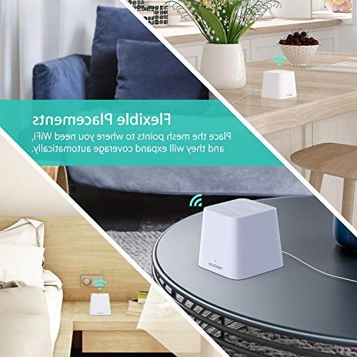 MeshForce Home WiFi System Band AC1200 Performance Wireless Coverage up to 6+